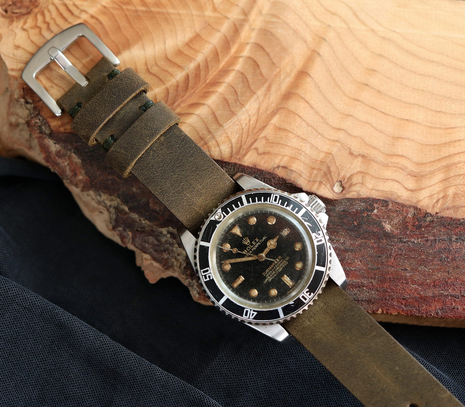 (NEW) Nato Watch Strap- Antique Green