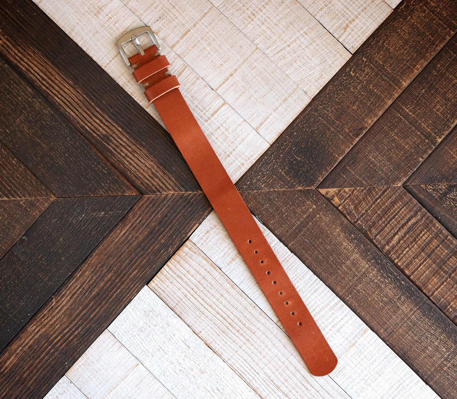 (NEW) Nato Watch Strap- Cognac