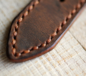 Custom Made Apple Watch Strap - Antique Brown