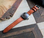Custom Made Leather Watch Strap - Cognac
