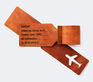 Leather Travel Tag - Personalized