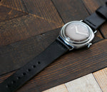 Leather Watch Strap - Black by Roarcraft