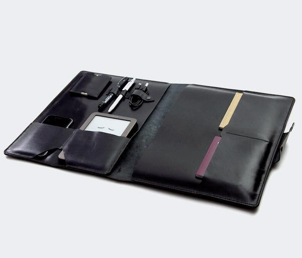 Leather iPad Organizer - Black