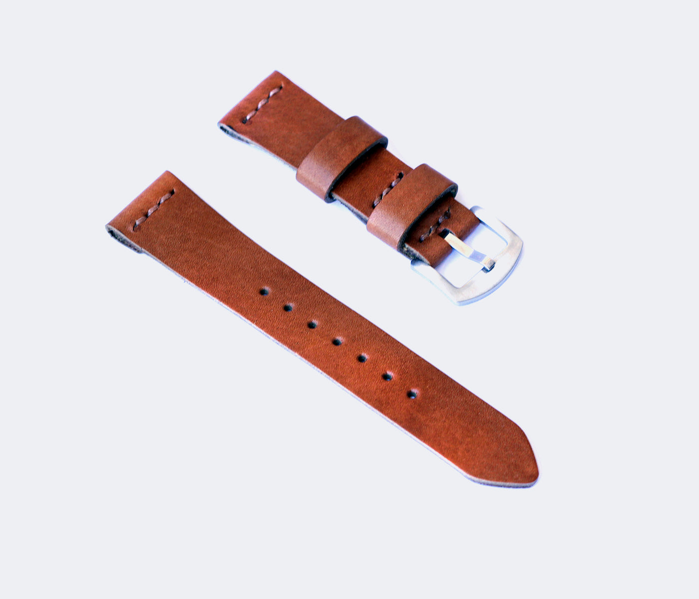 Leather Watch Strap - Cognac by Roarcraft