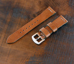 Leather Watch Strap - Cognac