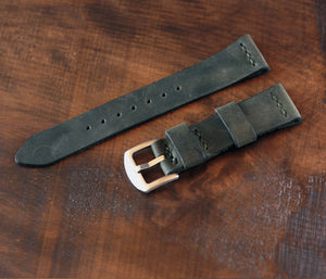 Apple Watch Leather Strap - Antique Green by Roarcraft