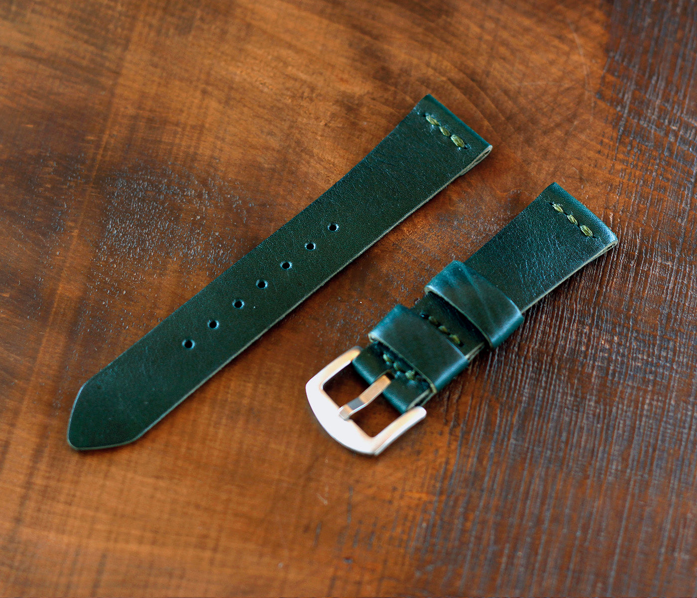 Apple Watch Leather Strap - Emerald Green by Roarcraft