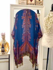 Paisley Kimono in Blue & Red
