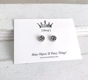 Itsy Bling Earrings - round