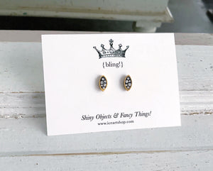 Itsy Bling Earrings - oval