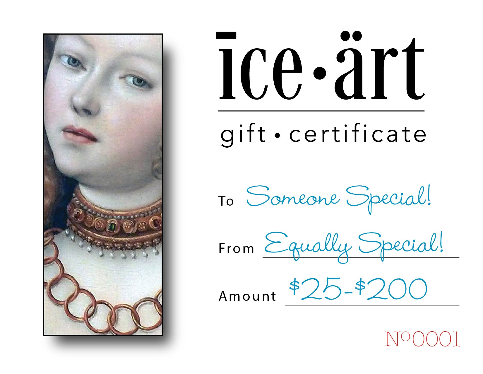 ICE ART Gift Card