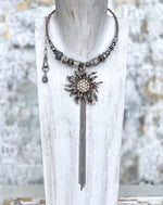 Steel Sunflowers - White Opal