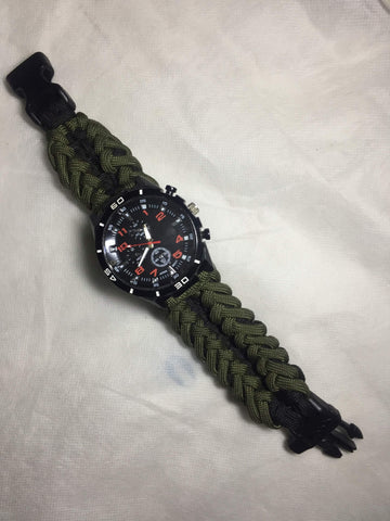 Paracord 550 Military Multi functional Survival  Bracelet Watch