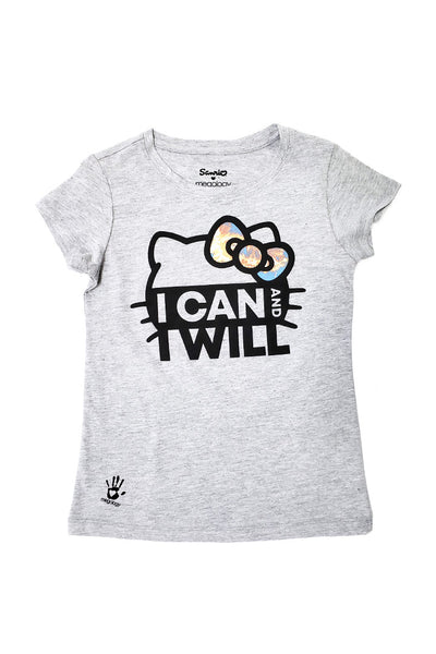 Sanrio x Megology Hello Kitty Girls Tee: I Can And I Will