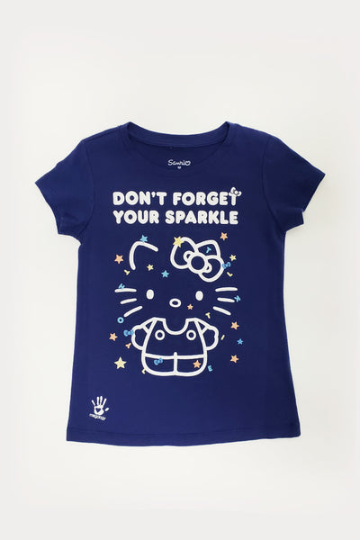 Sanrio x Megology Hello Kitty Girls Tee: Don't Forget Your Sparkle