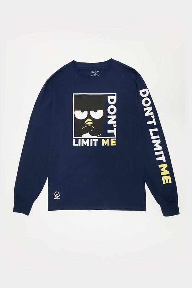 Sanrio x Megology Badtz-Maru Long Sleeve Tee: Don't Limit Me