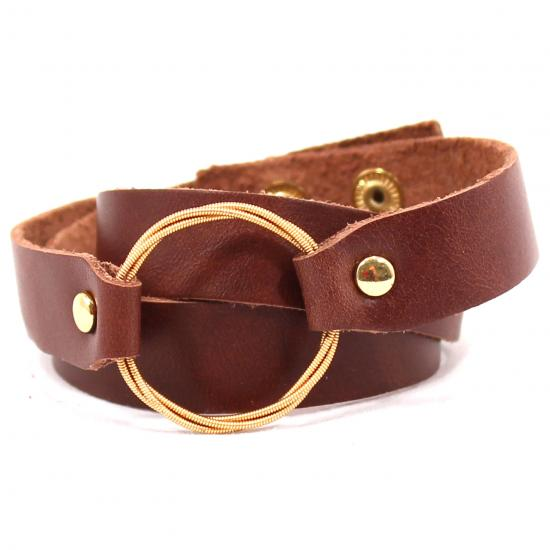 TC Leather Wrap Bracelet