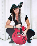 Red Guitar Photo - 8x10