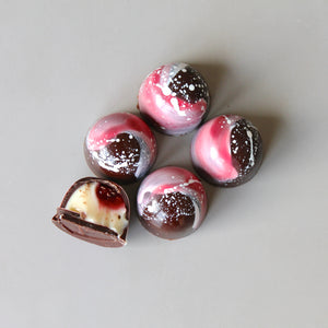 Raspberry & Pomegranate Gin Chocolates