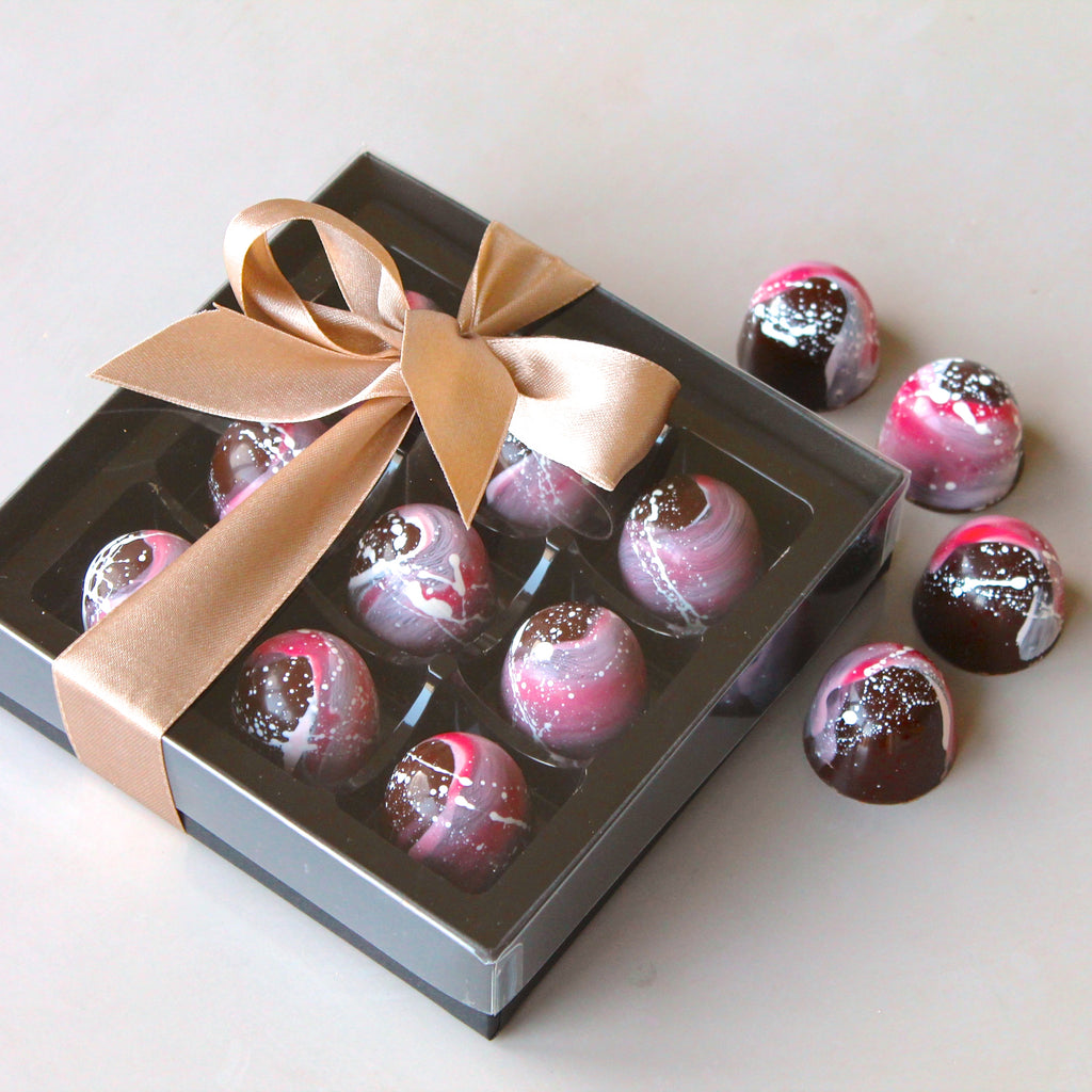 Raspberry Gin Chocolates