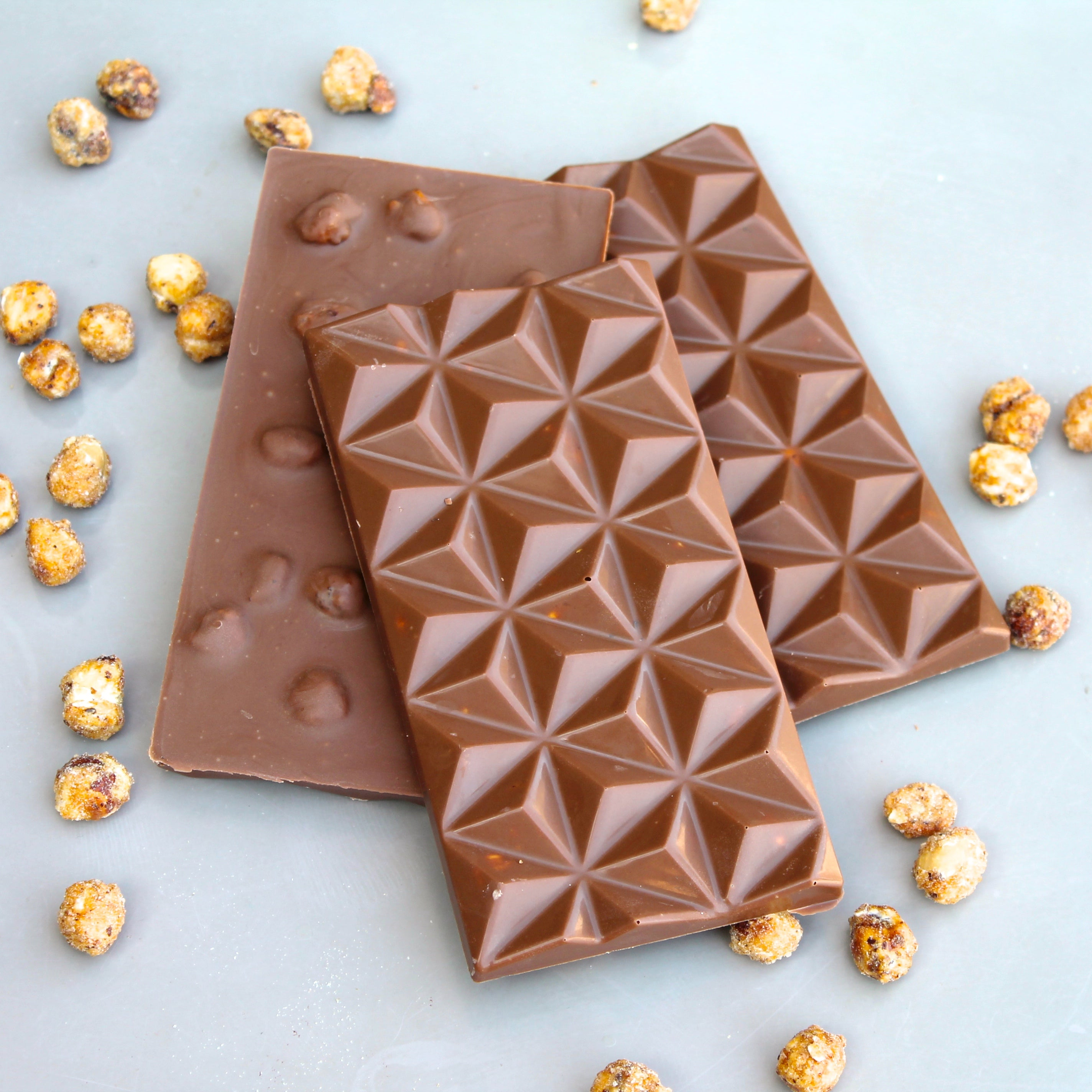 Caramelised Hazelnuts in Milk Chocolate