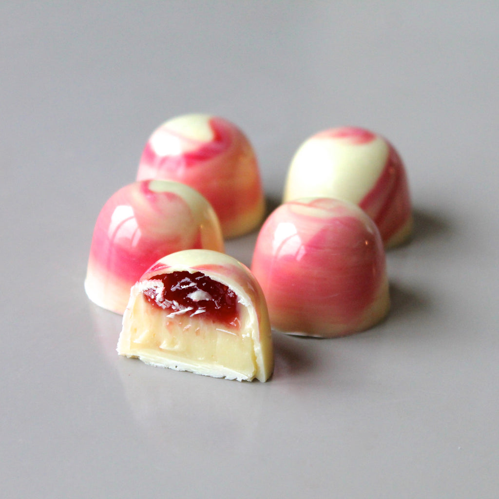 White Chocolate Raspberry Bonbons