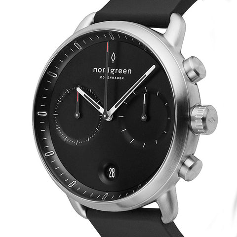 The Pioneer Chronograph: Winner of the 2020 Red Dot Award for Design, image of Nordgreen Pioneer Chronograph watch.