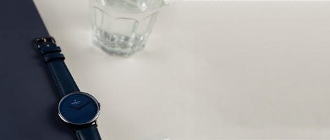 Start Your 2020 Off With Some 'Me Time', image of Nordgreen Native blue dial watch.