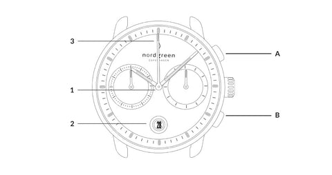 How to Use Your New Pioneer Chronograph, image of Pioneer watch specifications.