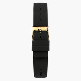 Black Rubber Watch Strap - Gold - 40mm/42mm