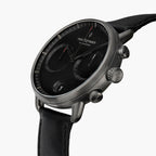 Pioneer - BUNDLE Black Dial Gun Metal | Gun Metal 3-Link / Black Leather/ Brown Leather Strap