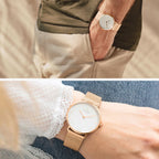 Native - BUNDLE White Dial Rose Gold | Mesh / Brown Leather Strap