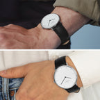 Native - BUNDLE White Dial Silver | Brown / Black Leather Strap