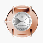 Philosopher - BUNDLE White Dial Rose Gold | Rose Gold 5-Link / Brown Leather Strap