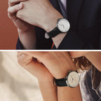 Philosopher - BUNDLE White Dial Gun Metal | Gun Metal Mesh / Black Leather Straps