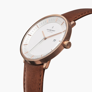 Philosopher - Rose Gold | Brown Leather