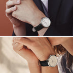 Philosopher - BUNDLE Silver | Brown / Black Leather Strap