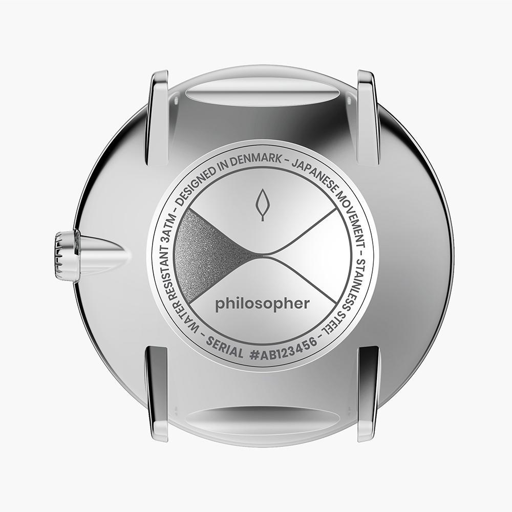 Philosopher - Silver | Black Leather