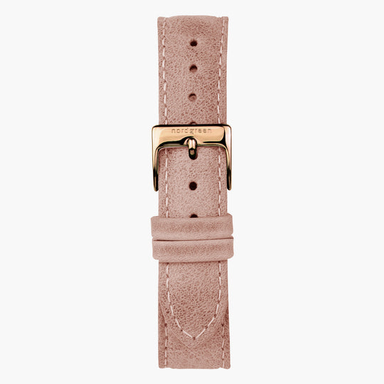 Pink Leather Watch Strap - Rose Gold - 32mm