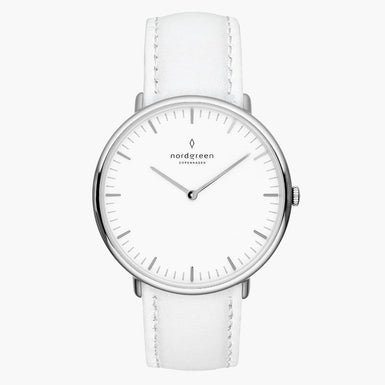 Native - Silver | White Leather