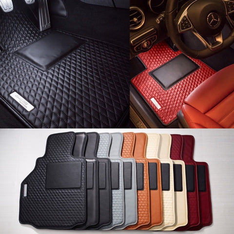 Leather car mats