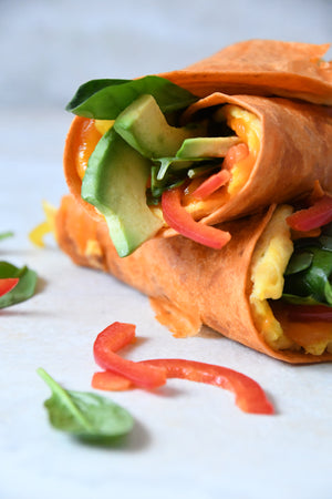Quick and Easy Red Pepper Wraps