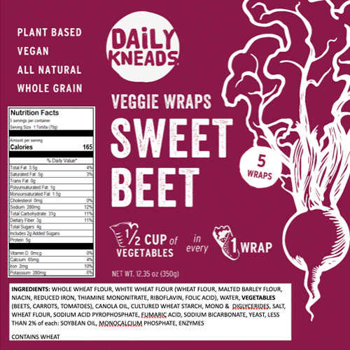 Sweet Beet Wrap (5 per package)