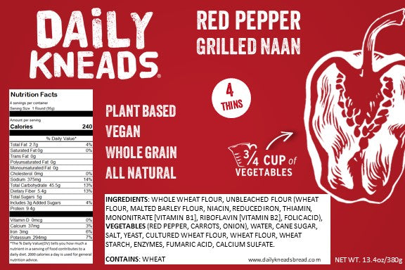 Red Pepper Sandwich Thins (4 per pack)