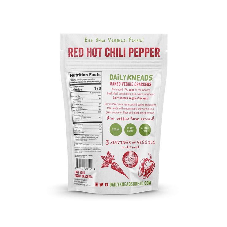 Red Hot Chili Pepper Baked Crackers 3-PACK (Gluten Free)