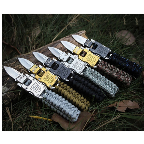 Tactical Knife Survival Bracelet