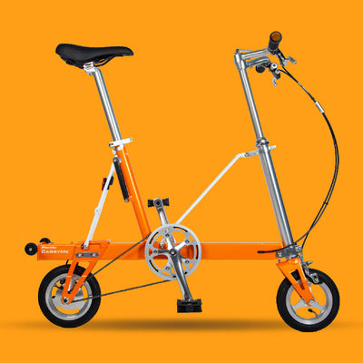 Pacific CarryMe Folding Bicycle in Amber Orange