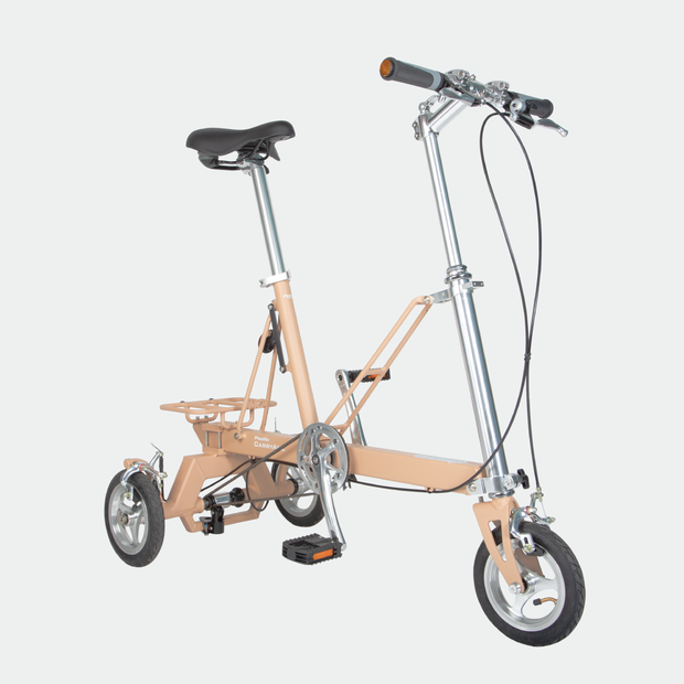 CarryAll Folding Tricycle in Khaki Brown