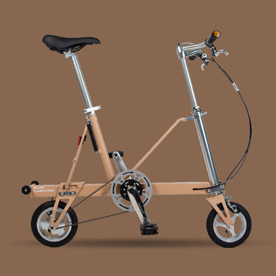 Pacific CarryMe Folding Bicycle in Khaki Brown