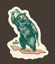 Swimming Bear Sticker (Large)